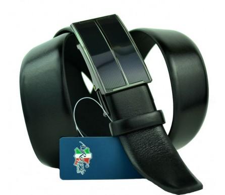 Мужской ремень для брюк с полуавтоматической пряжкой (зажим) (арт. 100454) Roberto Napoli