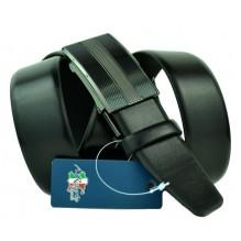 Мужской ремень для брюк с полуавтоматической пряжкой (зажим) (арт. 100455)