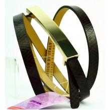 Женский узкий кожаный ремень (арт. 101103)