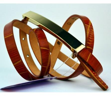 Женский узкий кожаный ремень (арт. 101099) Mayer