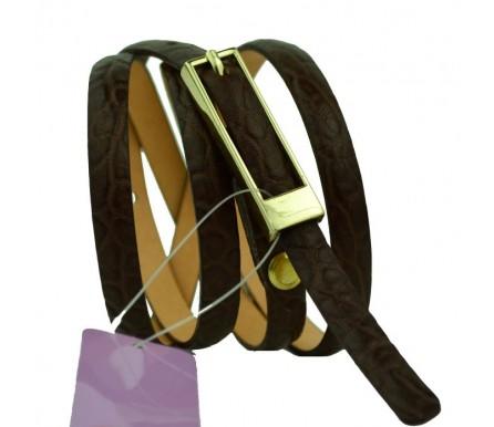 Женский узкий кожаный ремень (арт. 101084) Mayer