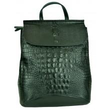 Рюкзак Сумка из Кожи (арт. 201144) цвет черный