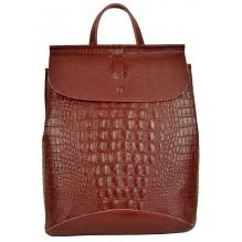 Рюкзак Сумка из Кожи (арт. 201289) цвет красный