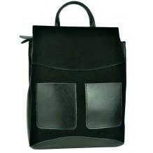 Рюкзак Сумка из Кожи (арт. 201462) цвет черный
