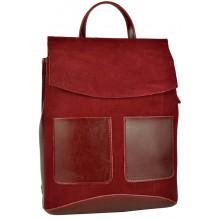 Рюкзак Сумка из Кожи (арт. 201463) цвет красный