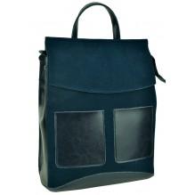 Рюкзак Сумка из Кожи (арт. 201465) цвет синий