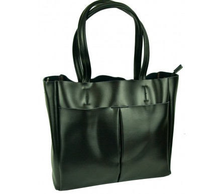 Кожаная женская сумка (арт. 201953) цвет черный