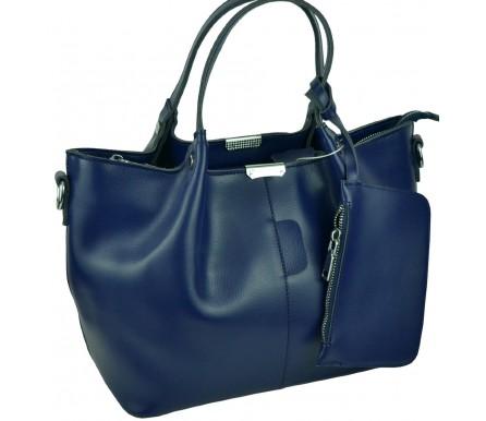 Кожаная женская сумка (арт. 201961) цвет синий
