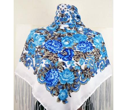 Шерстяной платок с кистями 120см МИЛОСЛАВА (арт. 200665)