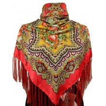 Шёлковый платок 120см АГЛАЯ (арт. 200028)