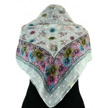 Церковный платок из шифона Цветной 80см ЮНОНА (арт. 200385)