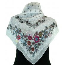 Церковный платок из шифона Цветной 80см АГАТА (арт. 200398)