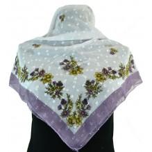 Церковный платок из шифона Цветной 80см АГРЕФЕНА (арт. 200405)
