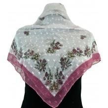 Церковный платок из шифона Цветной 80см АДЕЛИЯ (арт. 200408)