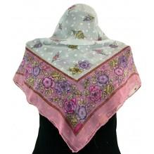 Церковный платок из шифона Цветной 80см АЗА (арт. 200410)