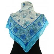 Церковный платок из шифона Цветной 80см АЛИСА (арт. 200420)