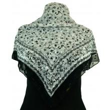 Церковный платок из шифона Цветной 80см АНАСТАСИЯ (арт. 200423)