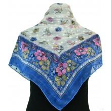 Церковный платок из шифона Цветной 80см АННА (арт. 200432)
