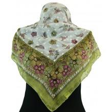 Церковный платок из шифона Цветной 80см АНФУСА (арт. 200437)