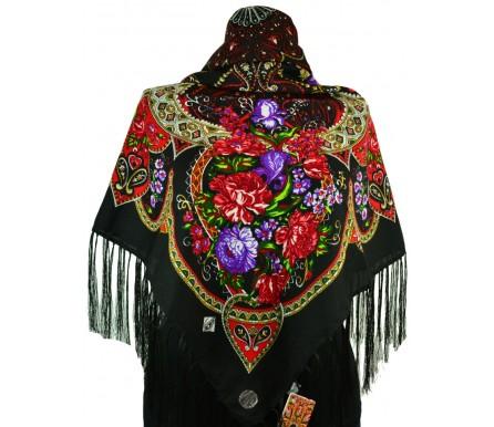 Шерстяной платок с кистями 120см ИНГА (арт. 200591)