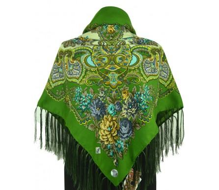 Шерстяной платок с кистями 120см МАРГАРИТА (арт. 200647)