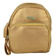 Рюкзак из Экокожи мини (арт. 201126) цвет золотой