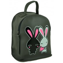 Рюкзак из Экокожи мини (арт. 201183) цвет серый