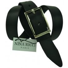 Женский кожаный ремень Nina Ricci черный (арт. 104627)