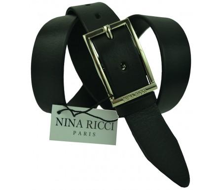 Женский кожаный ремень Nina Ricci черный (арт. 104627) Nina Ricci