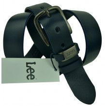 Мужской кожаный ремень Lee черный (арт. 104505)