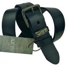 Мужской кожаный ремень Giorgio Armani черный (арт. 104484)