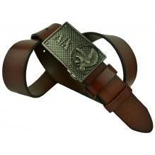 Мужской кожаный ремень Giorgio Armani темно-коричневый (арт. 104237)