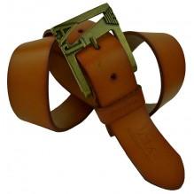 Мужской кожаный ремень Giorgio Armani коричневый (арт. 104238)