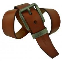 Мужской кожаный ремень Giorgio Armani коричневый (арт. 104239)