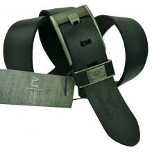 Мужской кожаный ремень Giorgio Armani черный (арт. 104240)