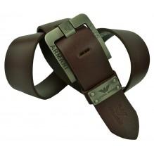 Мужской кожаный ремень Giorgio Armani темно-коричневый (арт. 104242)