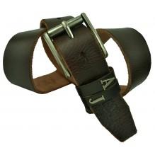 Мужской кожаный ремень Giorgio Armani темно-коричневый (арт. 104243)