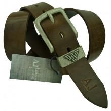 Мужской кожаный ремень Giorgio Armani темно-коричневый (арт. 104528)