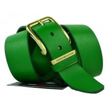 Мужской кожаный ремень Tommy Hilfiger зеленый (арт. 104259)