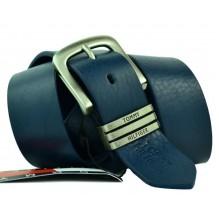 Мужской кожаный ремень Tommy Hilfiger темно-синий (арт. 104262)