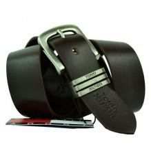 Мужской кожаный ремень Tommy Hilfiger темно-коричневый (арт. 104263)