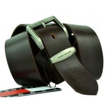Мужской кожаный ремень Tommy Hilfiger темно-коричневый (арт. 104266)