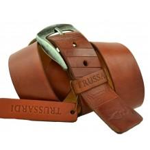 Мужской кожаный ремень TRUSSARDI коричневый (арт. 104341)