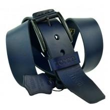 Мужской кожаный ремень Tommy Hilfiger темно-синий (арт. 104268)