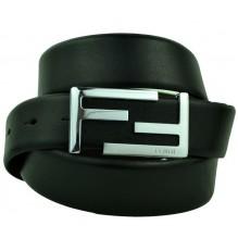 Мужской кожаный ремень Fendi черный (арт. 104571)