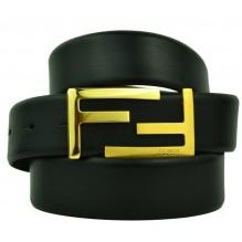 Мужской кожаный ремень Fendi черный (арт. 104573)