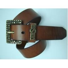 Мужской кожаный ремень Diesel темно-коричневый (арт. 104353)