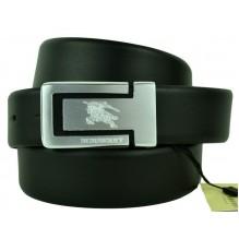 Мужской кожаный ремень Burberry черный (арт. 104606)
