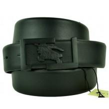 Мужской кожаный ремень Burberry черный (арт. 104609)
