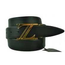Мужской кожаный ремень Zegna черный (арт. 104617)